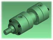 KOMPAUT Hydraulic cylinder ISO 6020/1