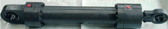 Cilindro oleodinamico, cilindro speciale, cilindro ISO 6022, alesaggio 250, fissaggio MP5 ottenuto in unico pezzo con il fondello, cilindro interamente trattato al nipre per utilizzo ambiente marino