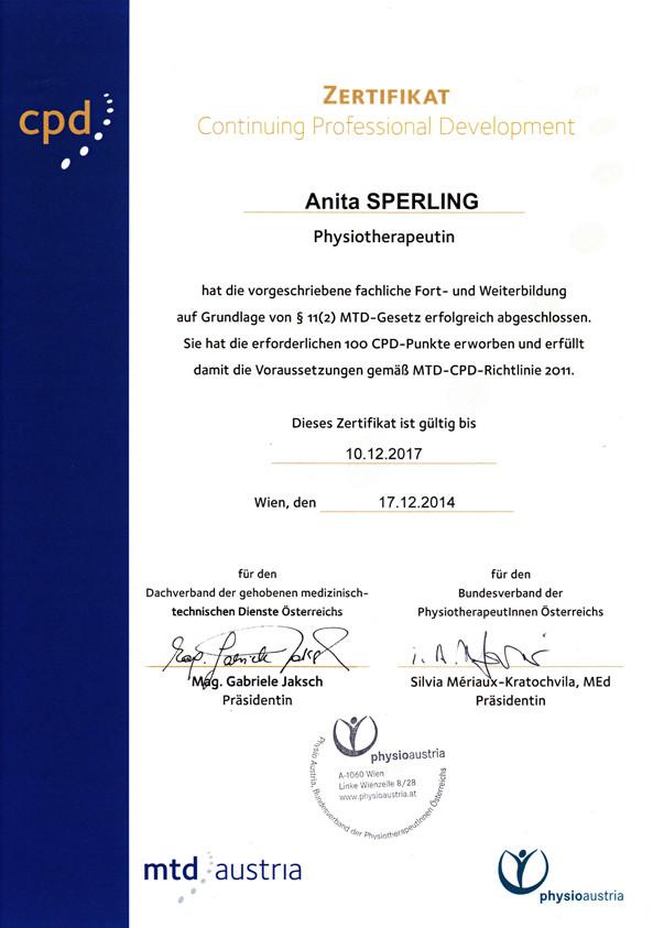 MTD-CPD-Zertifikat 2014