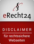 Disclaimer-Siegel von eRecht24