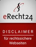 Disclaimer-Siegel von eRecht24