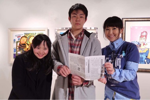左から、作文に登場する「姉」美憂ちゃん  作者、中学2年生  東ちづるさん