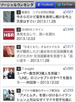 4回連載の全てが、ソーシャルランキングトップ3に入る人気記事となりました。