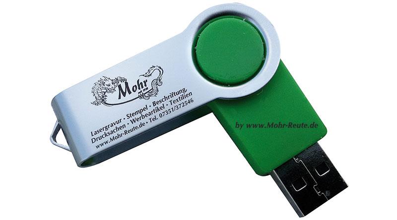 USB-Stick mit Lasergravur