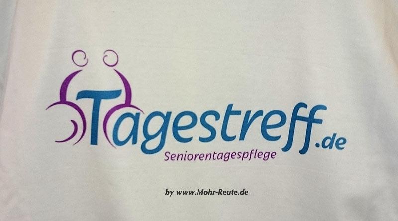 T-Shirt mit mehrfarbigem Rückendruck