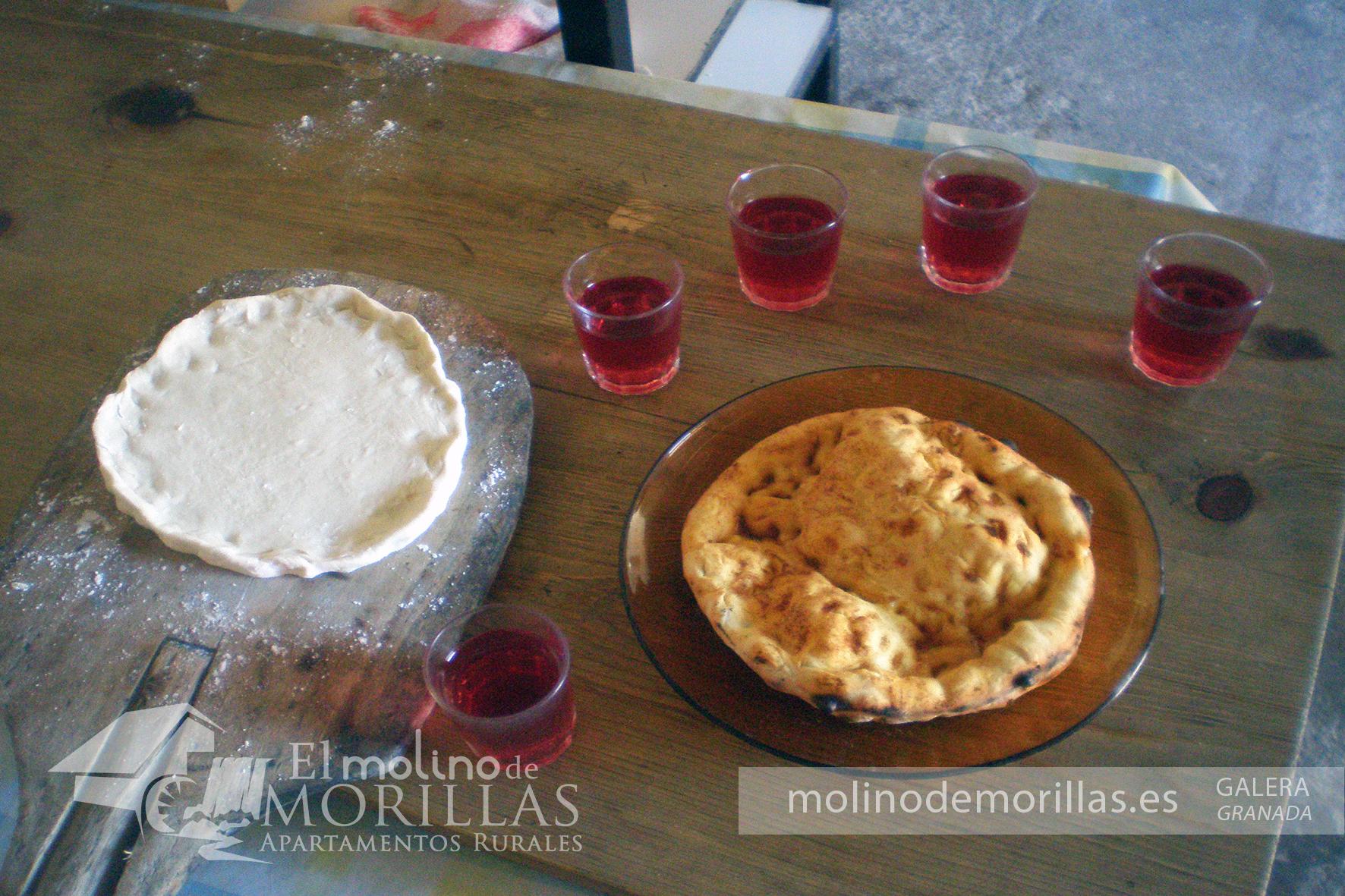 """Cata del típico vino de Galera y """"soyafas"""" de pan en horno tradicional de leña"""