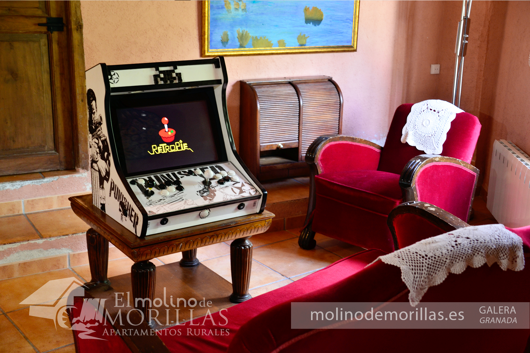 Máquina recreativa arcade vintage