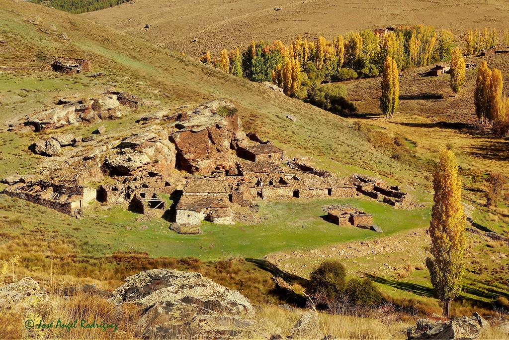 Paisaje típico del Altiplano de Granada