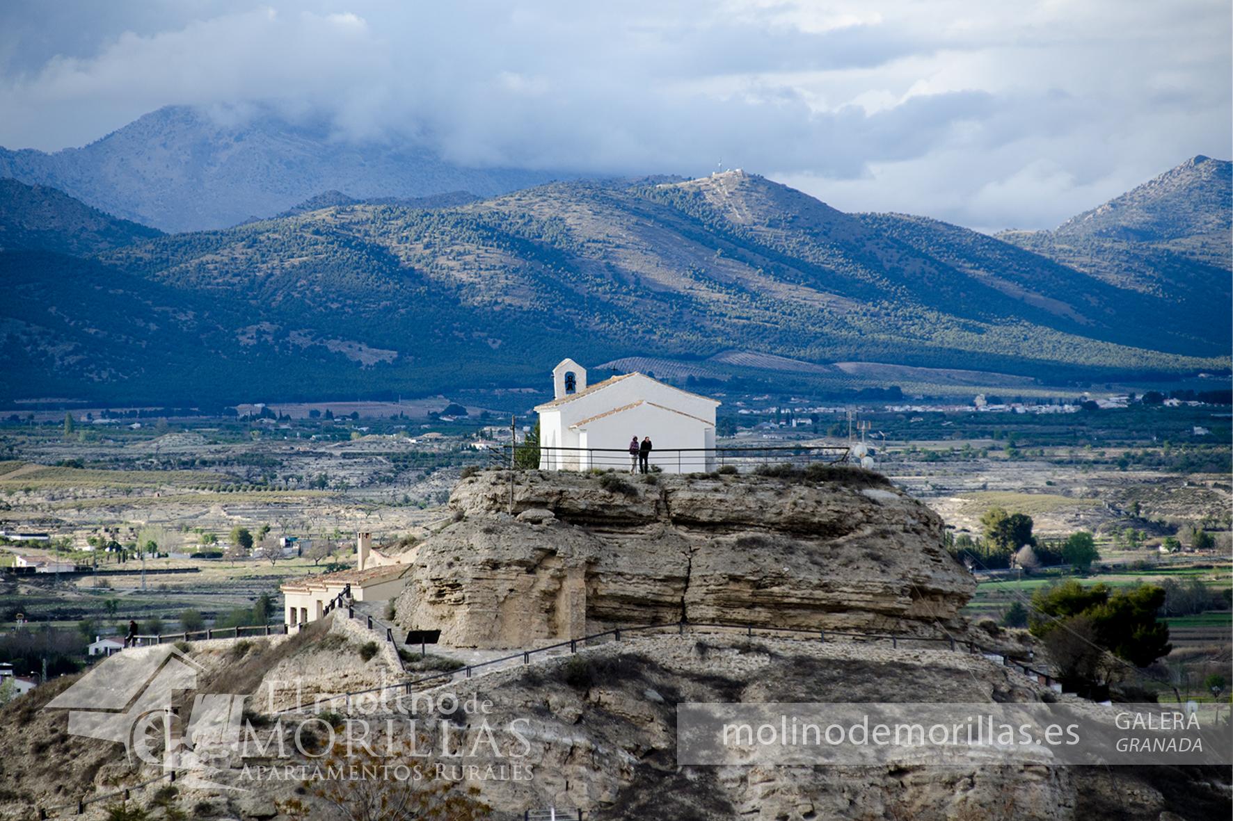 Vista a la ermita de Galera y Sierra de La Sagra