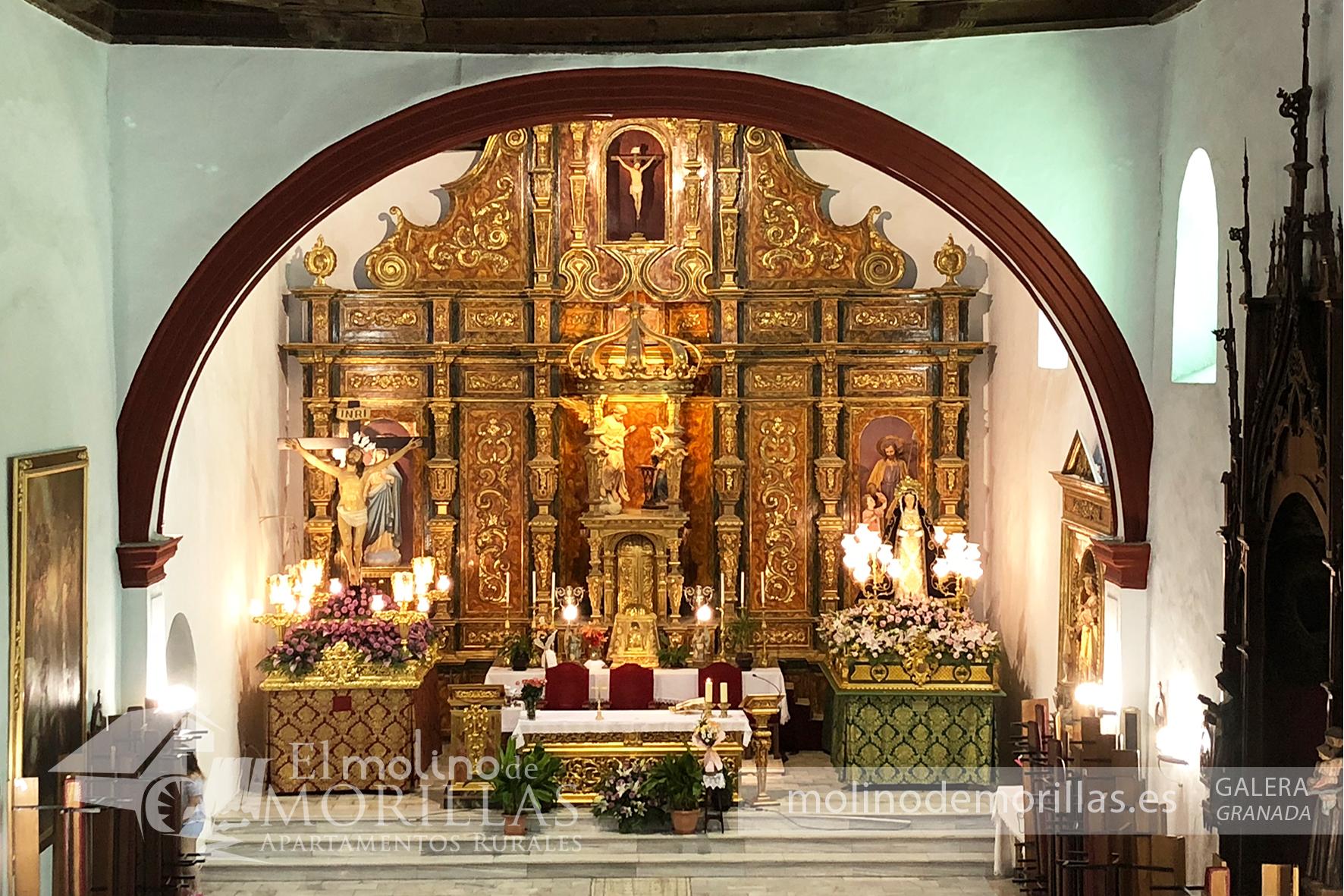 Altar mayor de la Iglesia de Ntra. Sra. de la Anunciación de Galera, de estilo mudéjar
