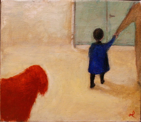 """Una is going to the kindergarten"". Artist Tinatin Chkhikvishvili"