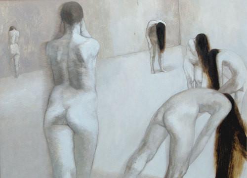 """""""White bodies"""". Artist Kristine Kakabadze"""