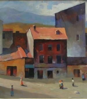 """""""Town"""". Artist Tamaz Khutsishvili"""