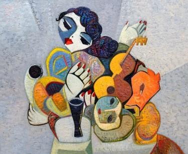"""Composition with the guitar"". Художник И. Чолария"