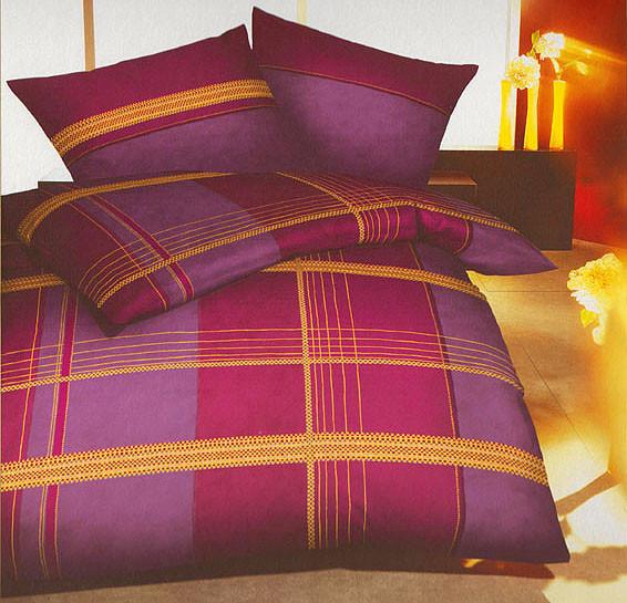 bettw sche set f r decke und kissen 135x200 cm lila. Black Bedroom Furniture Sets. Home Design Ideas