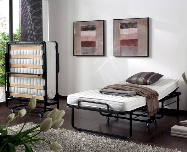 raumspar und g stebett inkl matratze klappbar. Black Bedroom Furniture Sets. Home Design Ideas