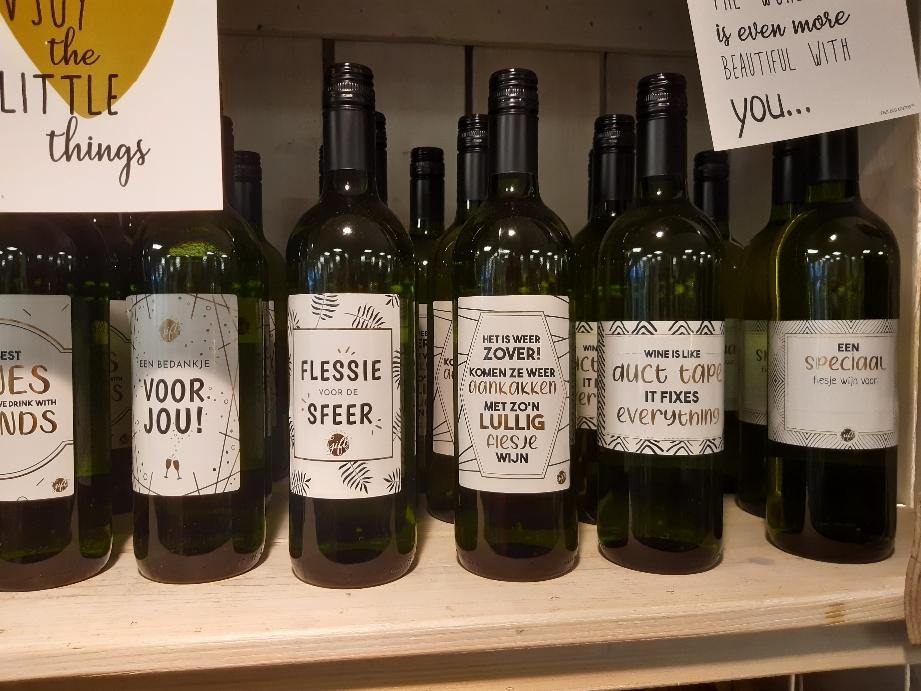 Lekker flesje wijn wit 12.95