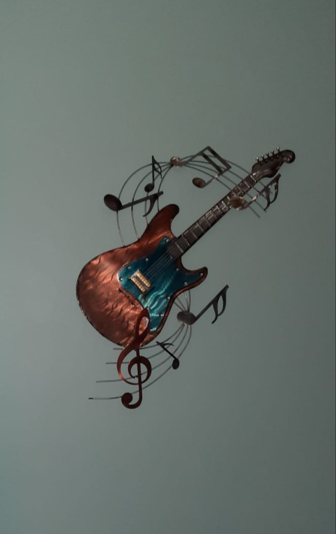 Mooie wanddeco fender gitaar