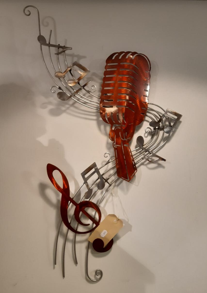 Mooie wanddeco lollypop microfoon