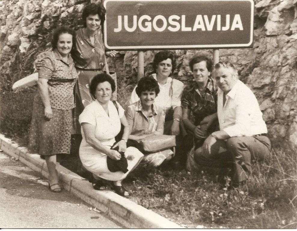 La famiglia Bedognè nella gita in Croazia