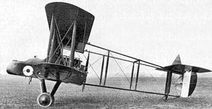 RAF FE2b night bomber: 'FE' Farman Experimental 'pusher' engine