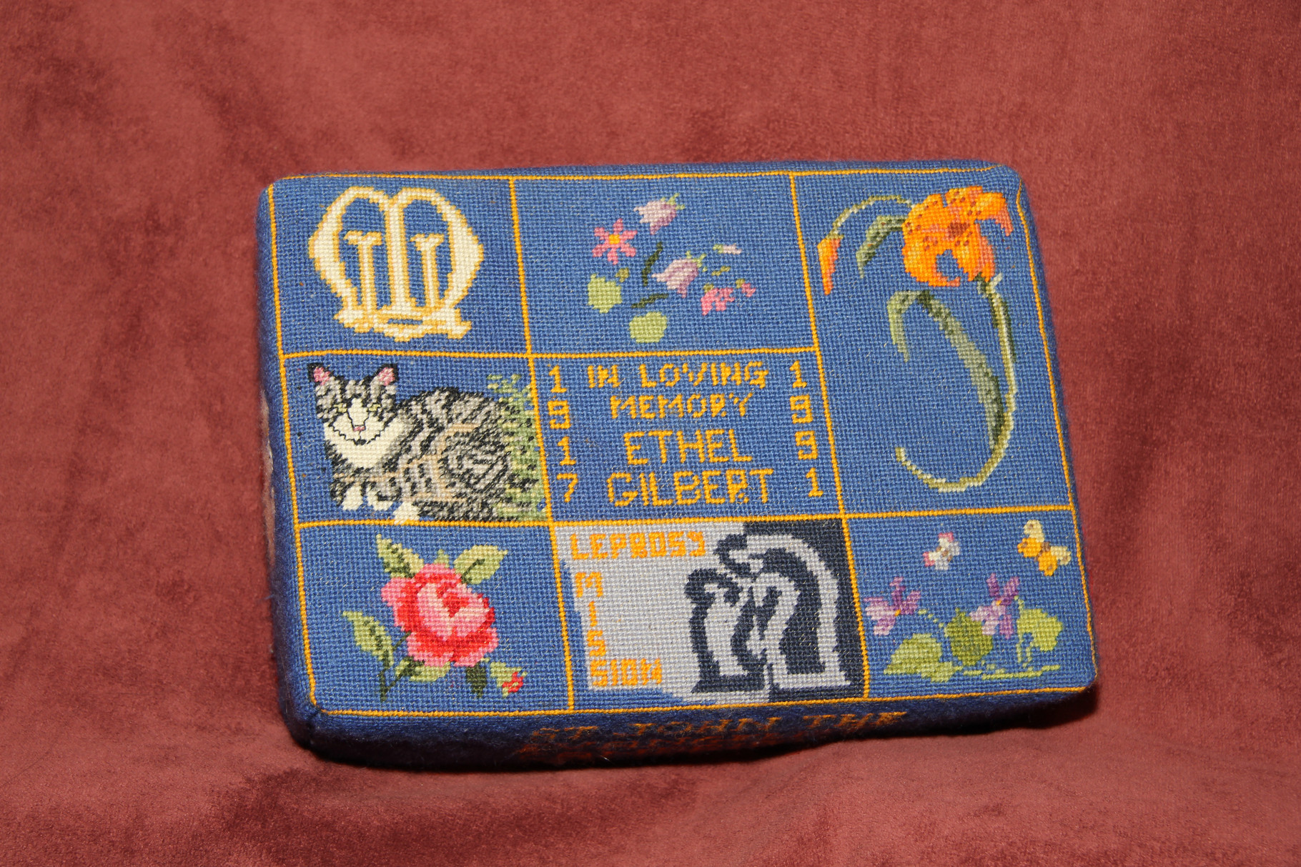 32. In memory of Ethel Gilbert (1917-1991) – donated by Paul and Daphne Gilbert and worked by Bridget Garton