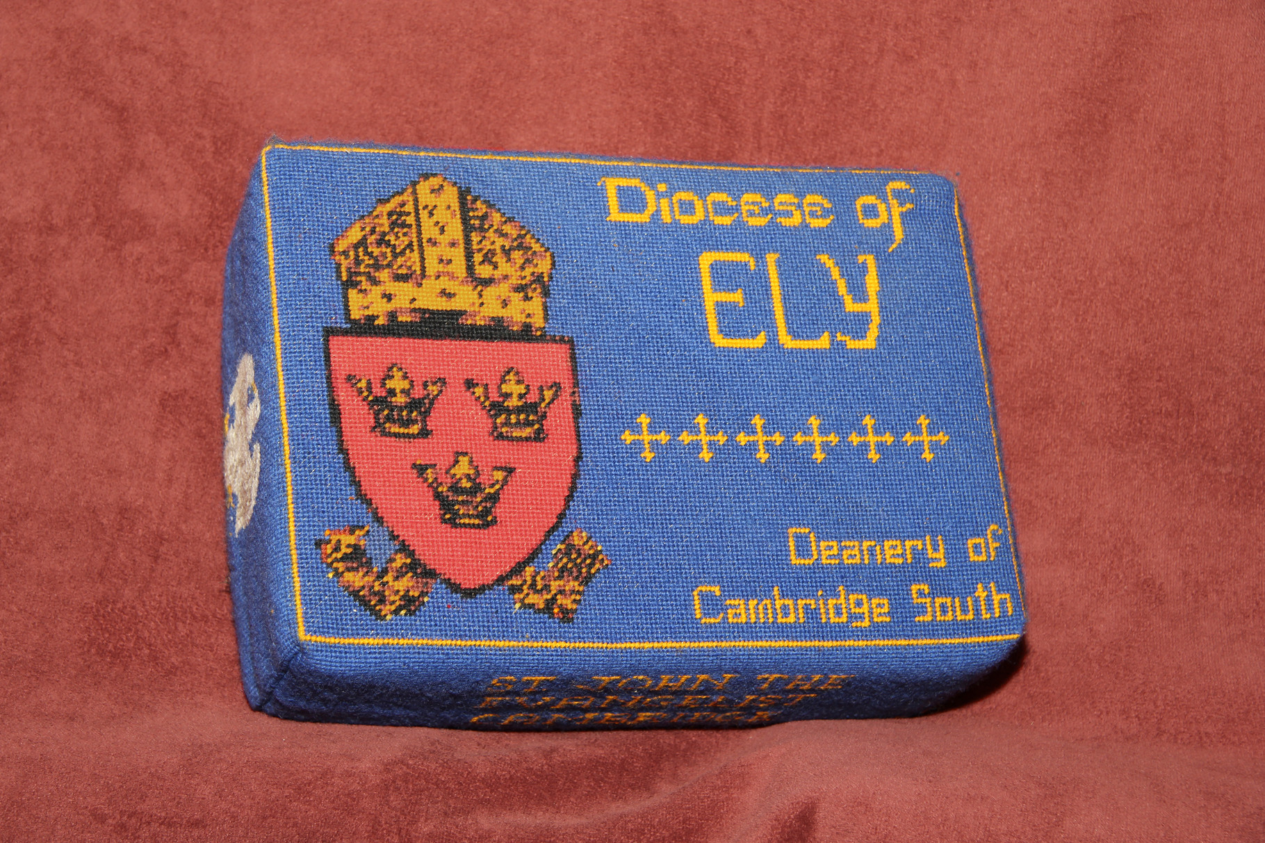 40.  Mitre and Shield. Diocese of Ely (Cambridge South Deanery) donated and worked by Bridget Garton