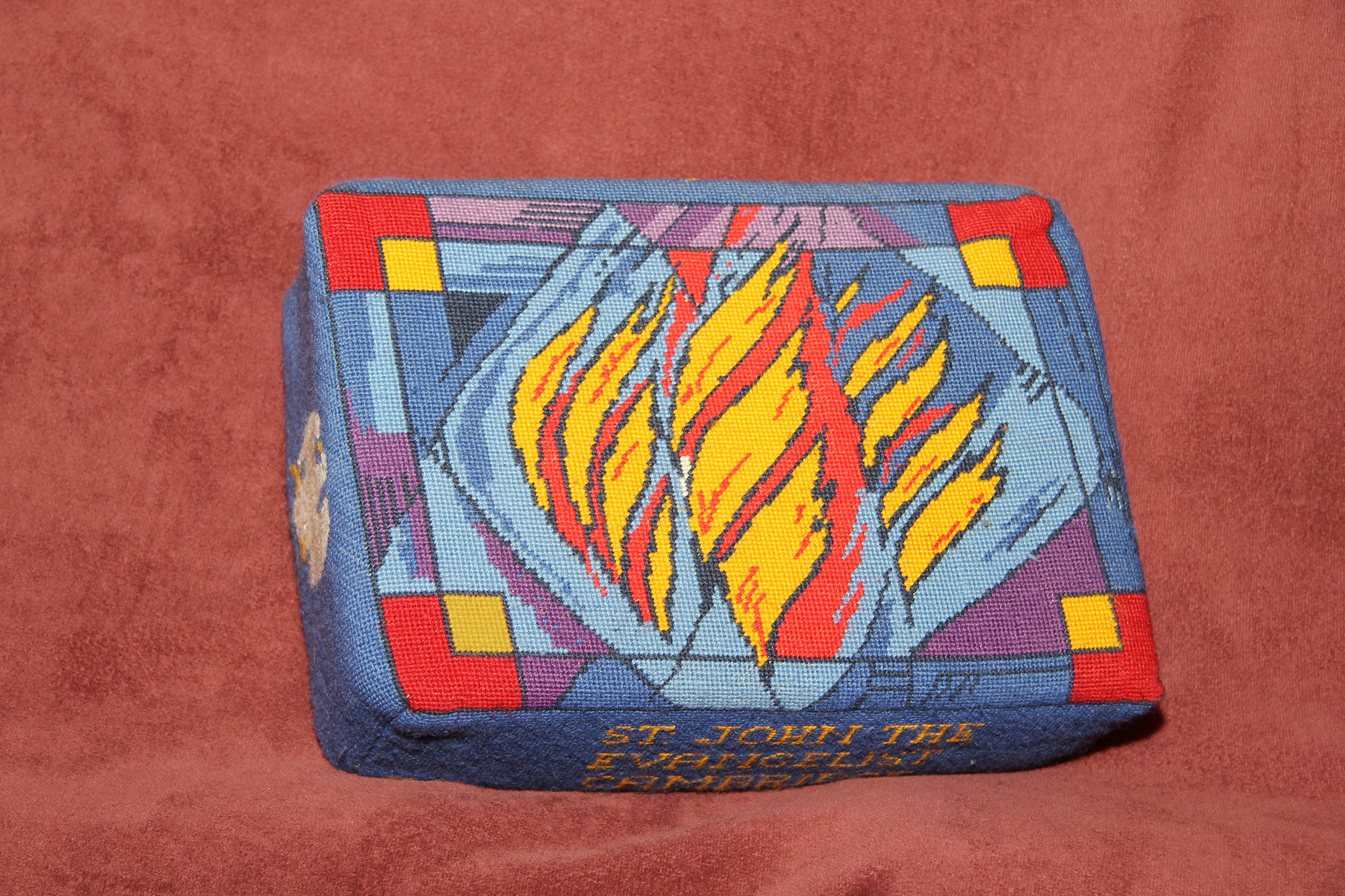 12.   Pentecost Flames – donated by Elizabeth Hubbard and worked by Rosemary Huggins