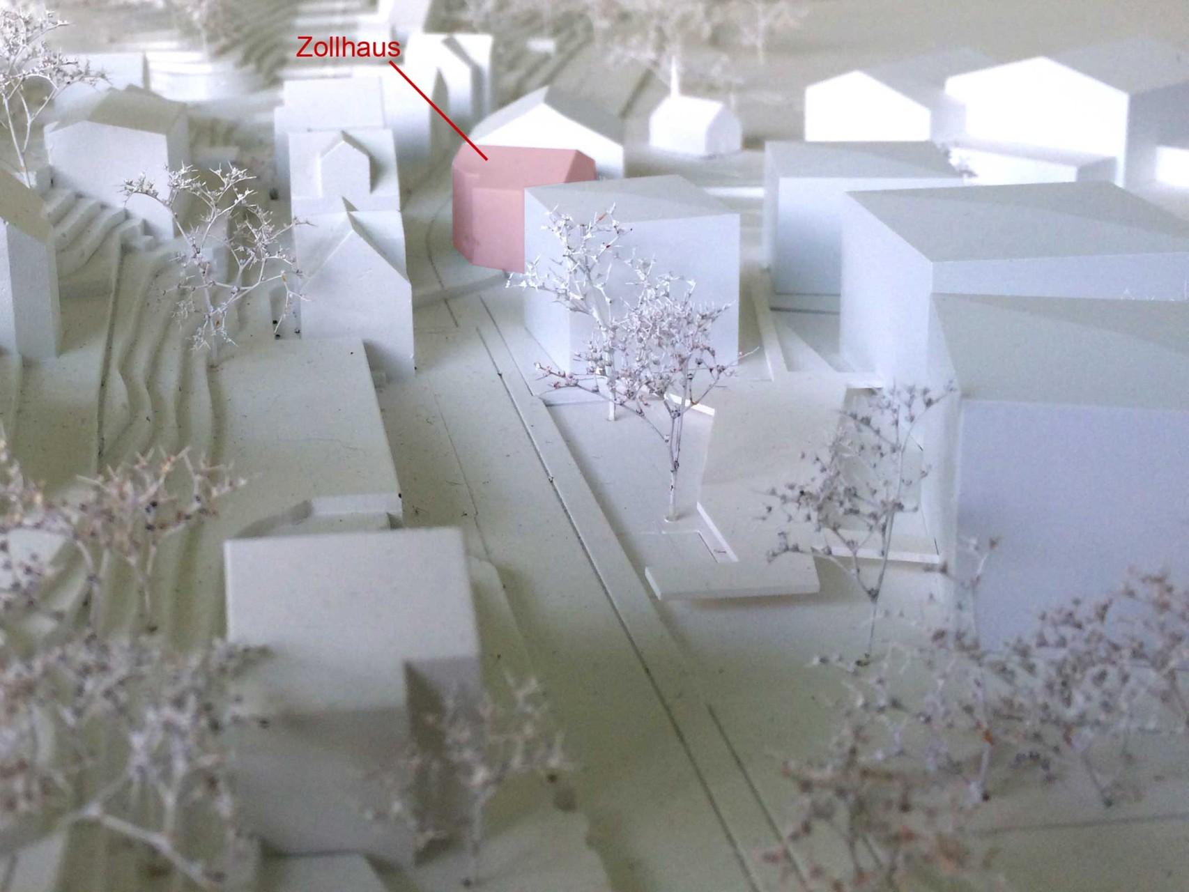 Modell des Architekturwettbewerbes