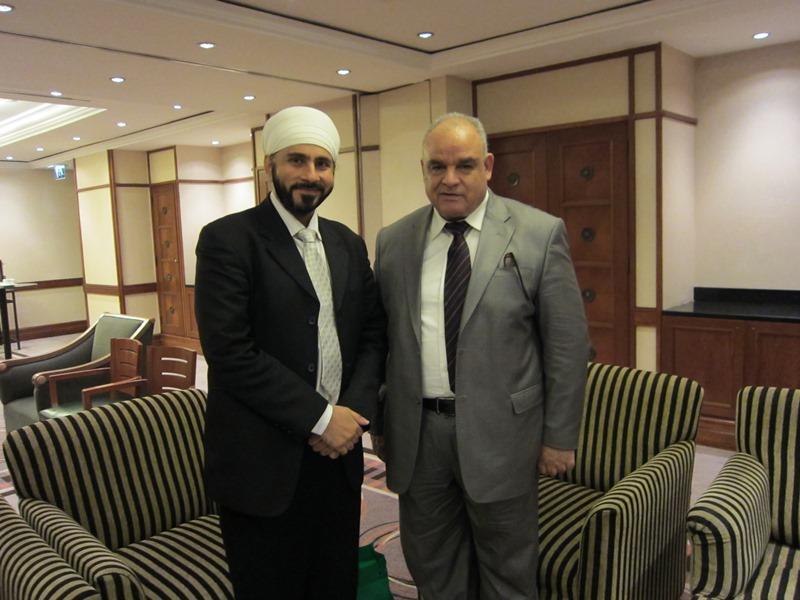 with President Board of Trade of Jordan
