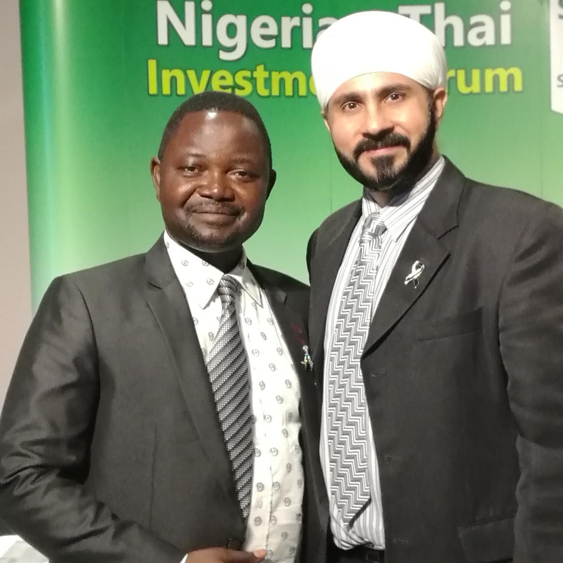 with H.E. Irmiya J. Jelison, Finance Attachd, Embassy of Nigeria