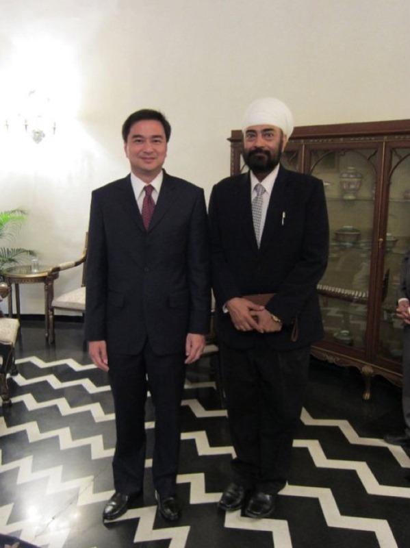 with H.E. Abhisit Vejjajiva, Prime Minister of Thailand