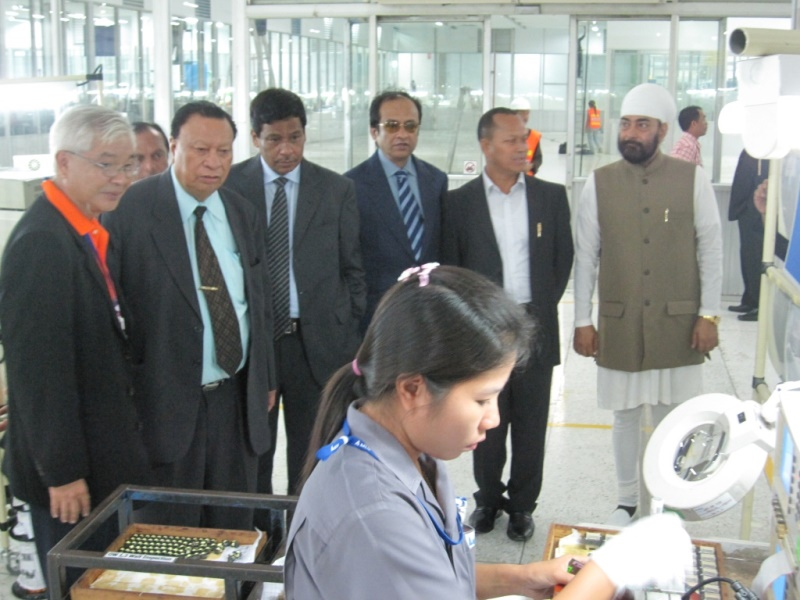 Chief Minister of Nagaland Visited Factory in Thailand