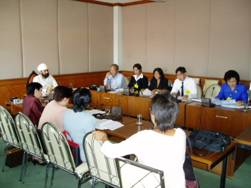 Head Meeting at Sub committee Legislative Assembly of Thailand