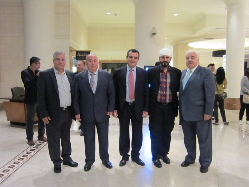 WIth Business Friends in Jordan
