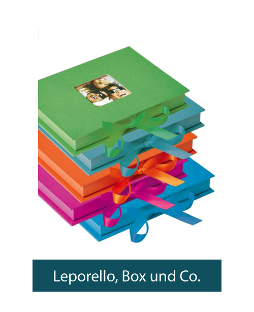 Leporello, Box und Co.