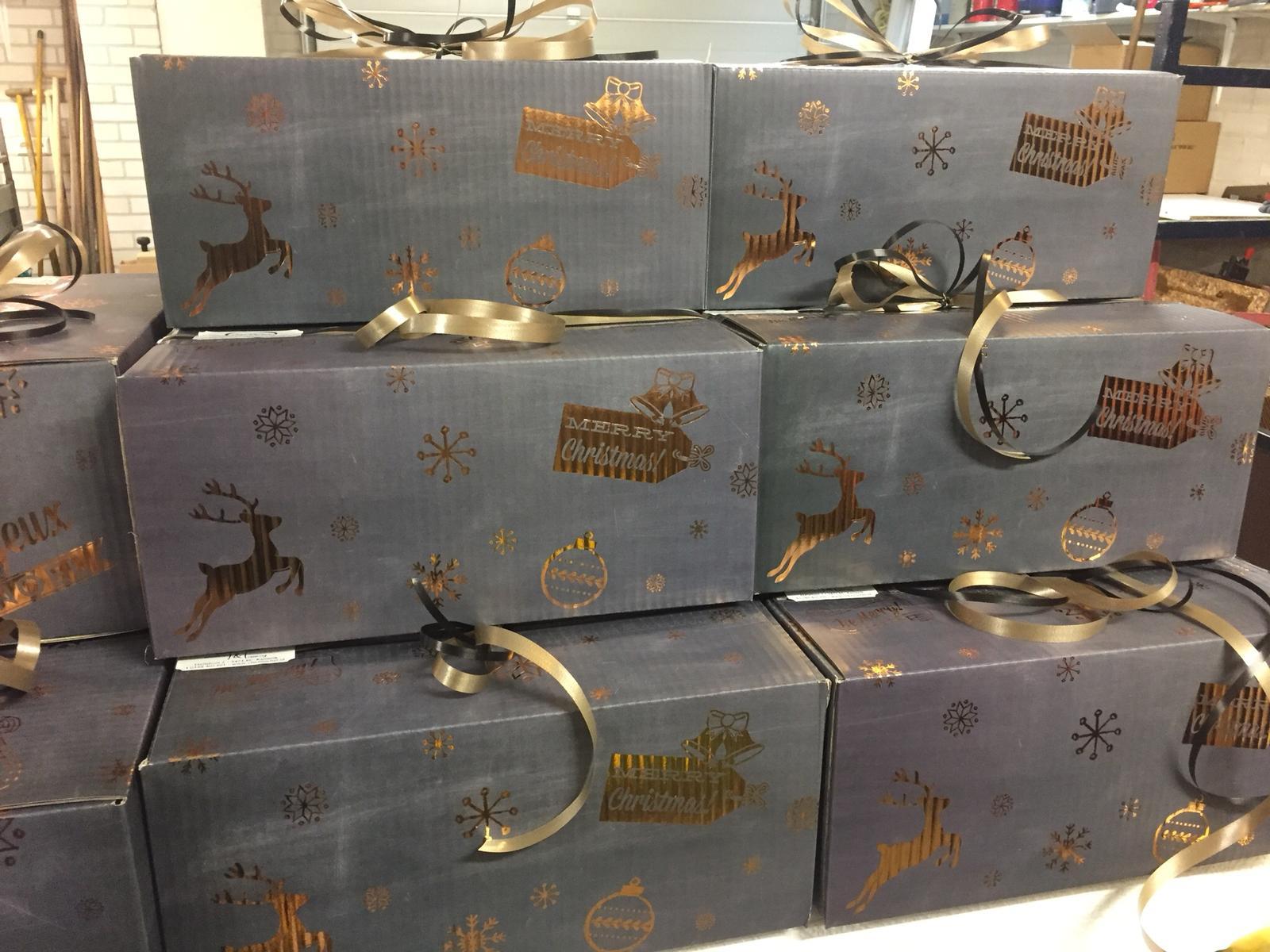 Kerstpakket verpakking
