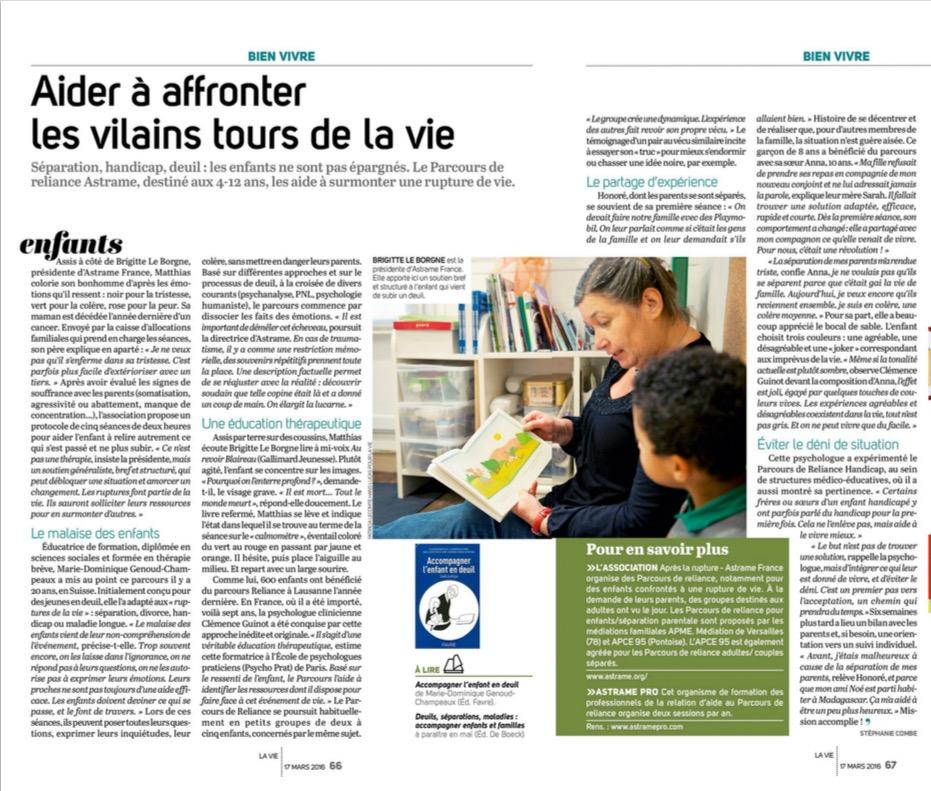 Mars 2016 - La Vie pages 66 - 67