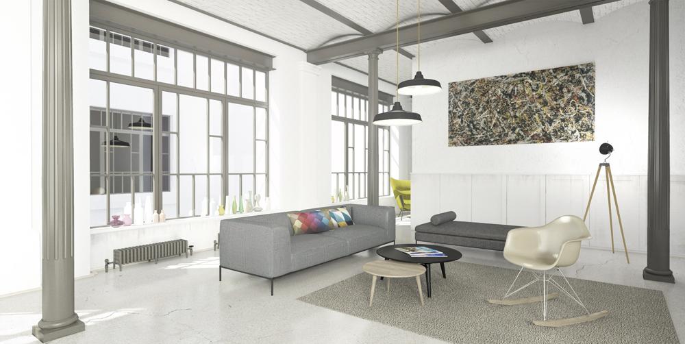 Einrichtung eines Lofts in Wuppertal