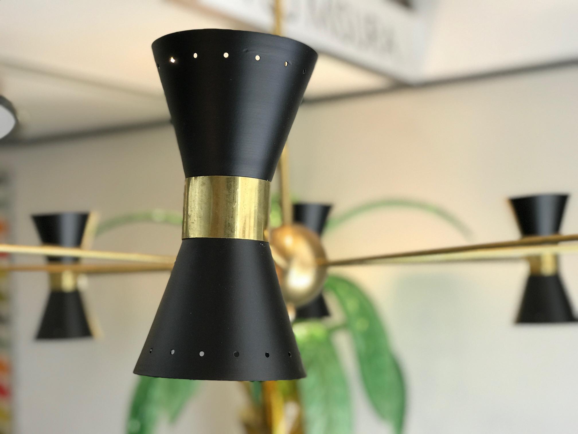 Stilnovo chandelier vintage