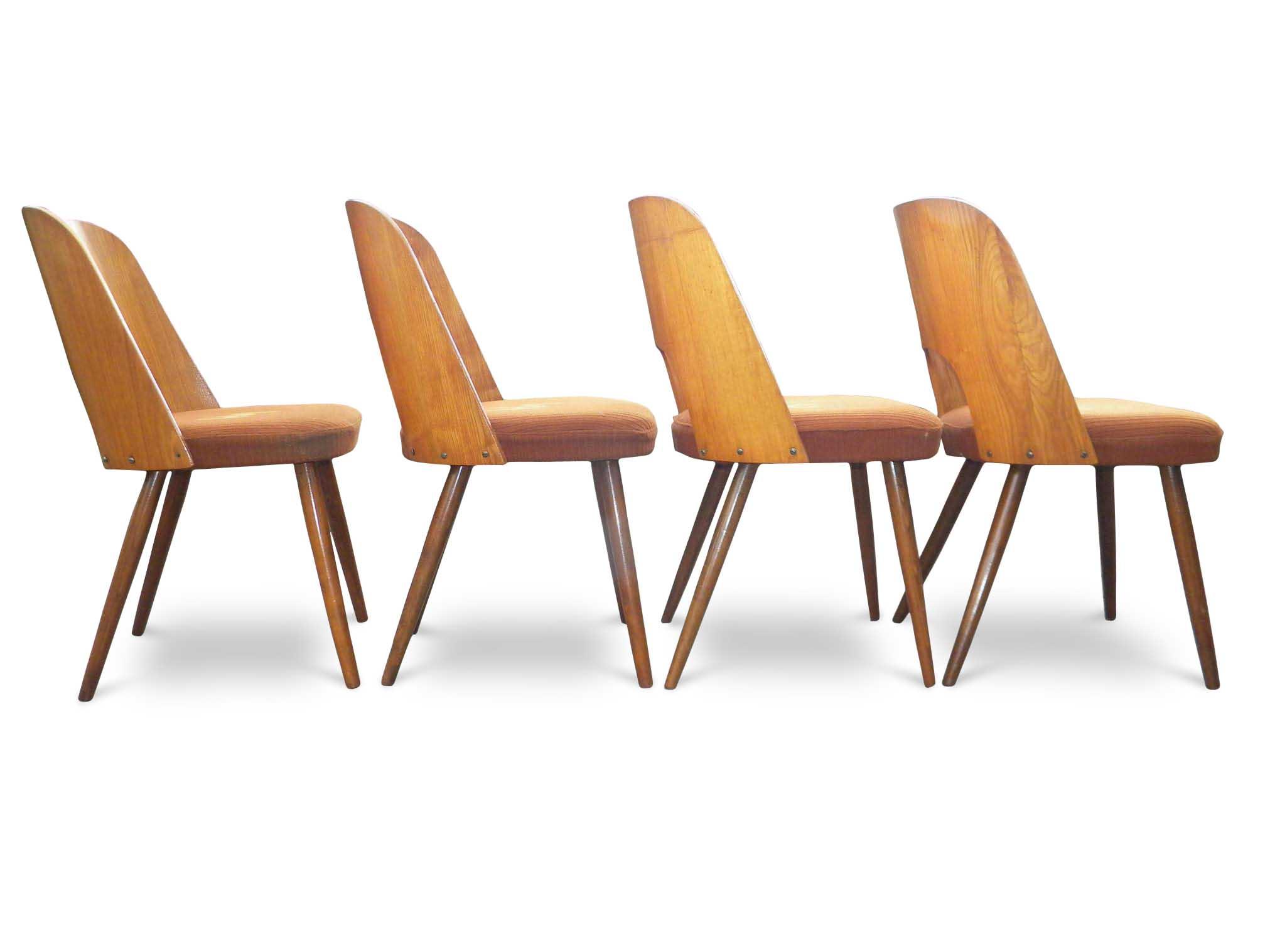 sedie vintage teak schienale curvo