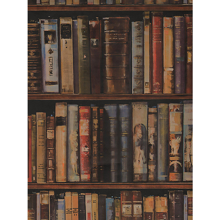 Carta da parati libreria vintage italian vintage sofa for Carta da parati libreria