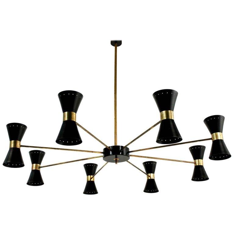 chandelier vintage stilnovo sarfatti 1950s