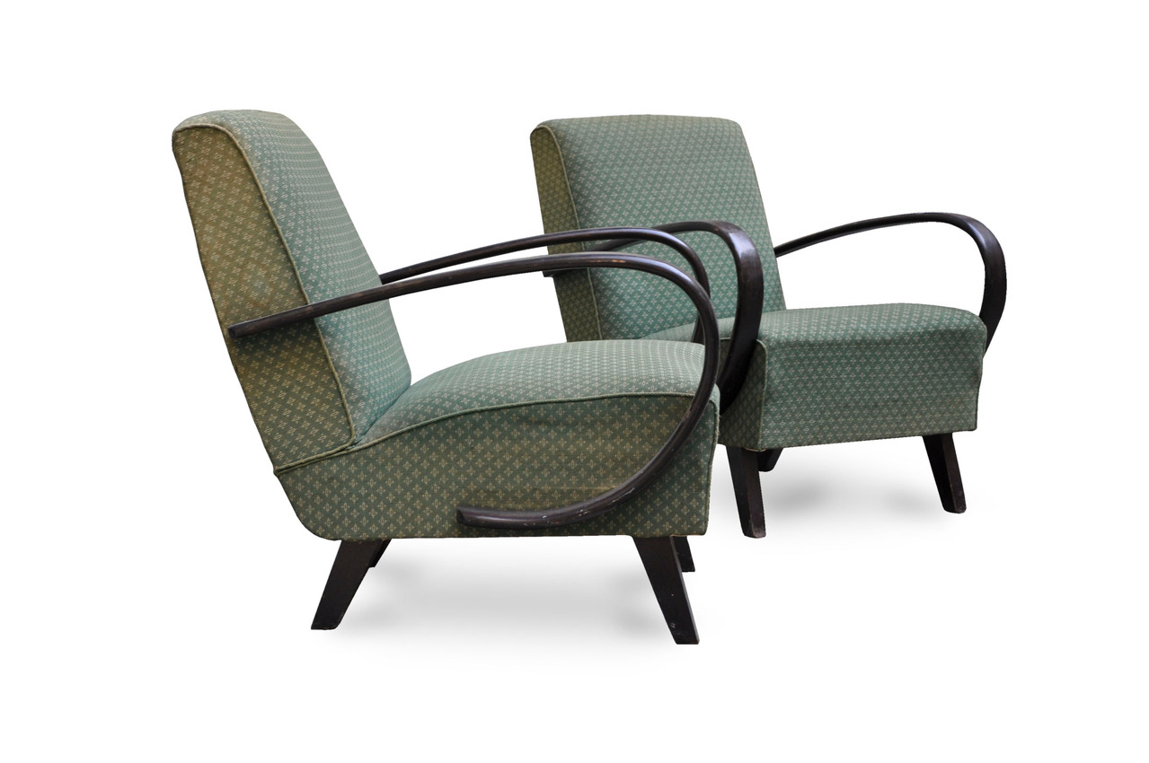 Poltrone vintage anni 39 30 art deco in faggio curvato for Poltrone da design