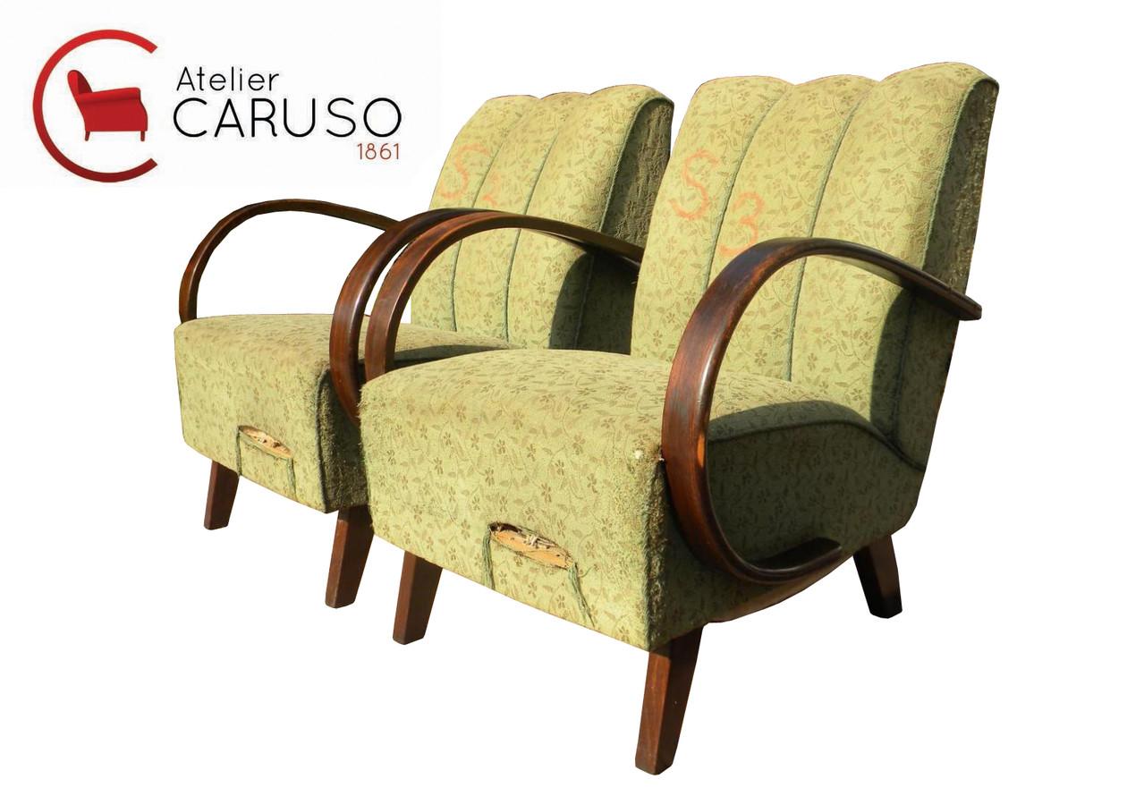 Poltrone art deco anni 39 20 vintage italian vintage sofa for Arredamento anni 20