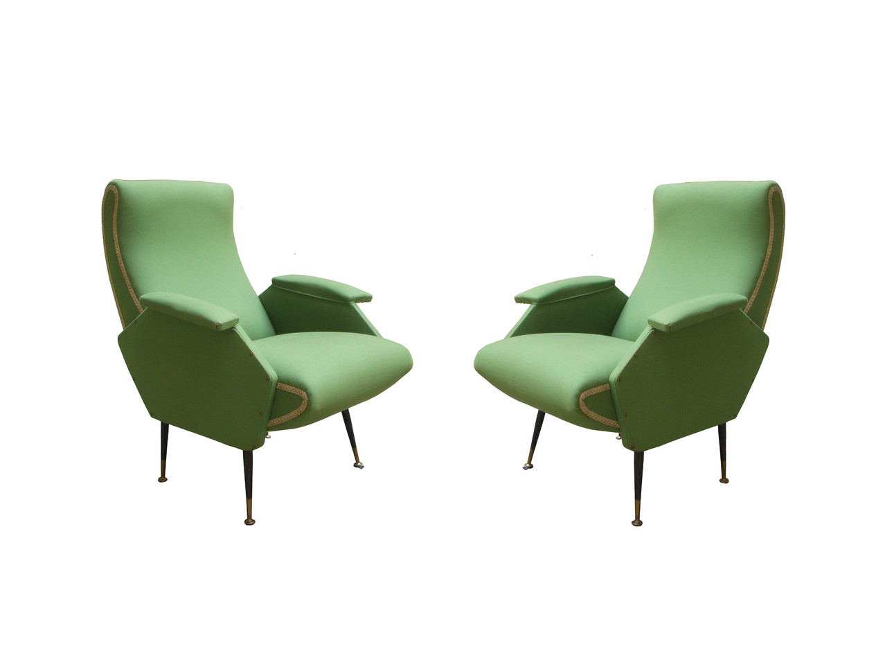 anni 39 70 verde italian vintage sofa