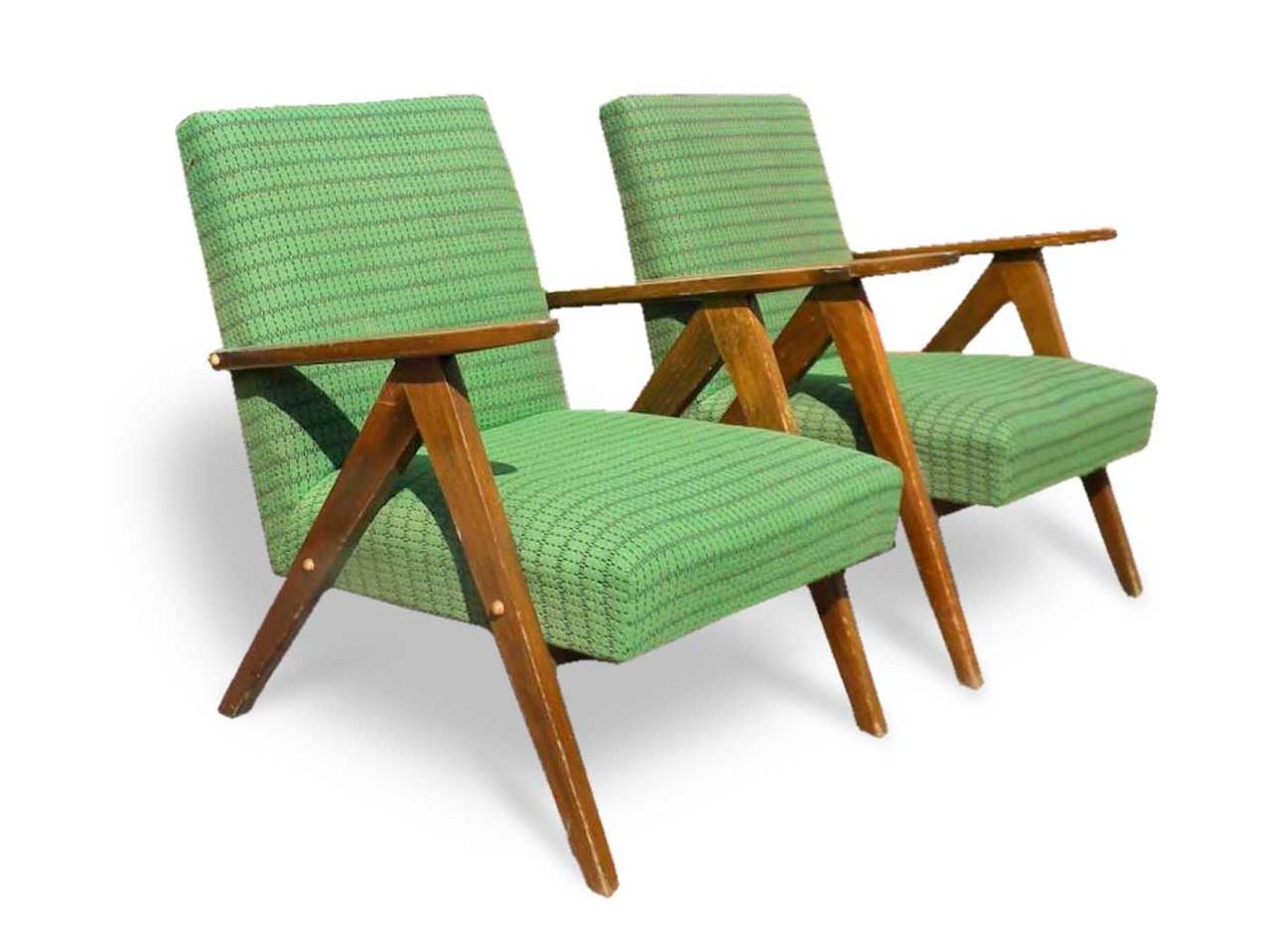 Poltrone anni 39 60 gamba compasso in legno italian for Poltroncina anni 60