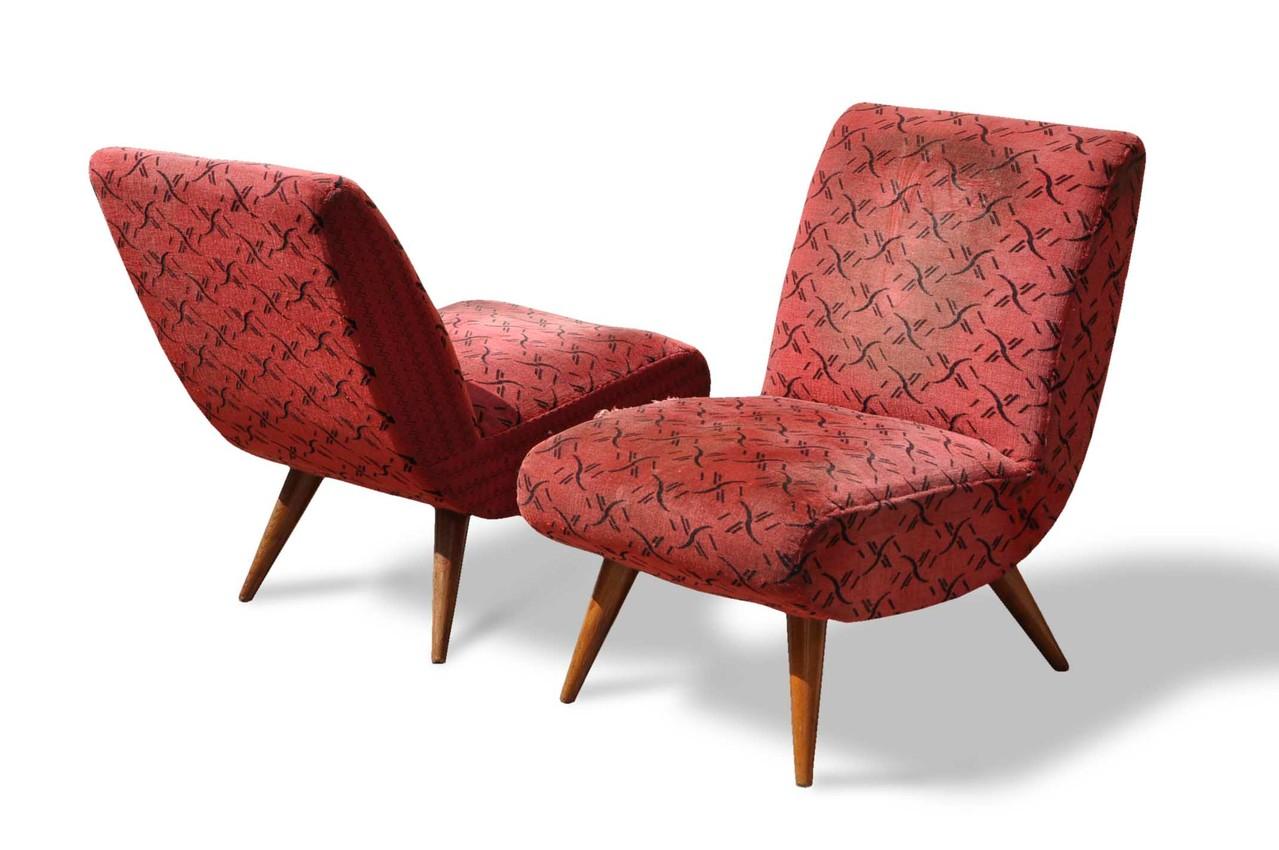 Poltroncine vintage anni 50 italian vintage sofa for Sedie e poltrone design