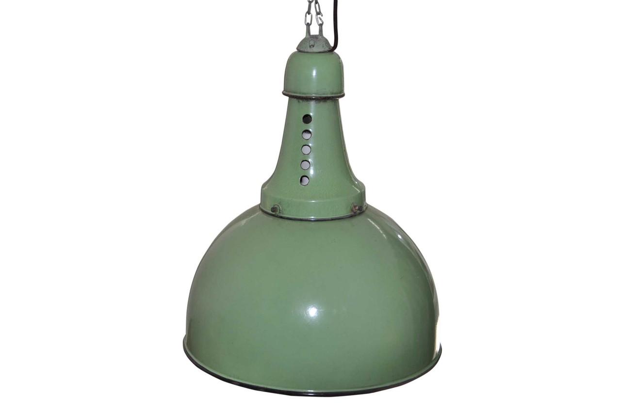 Lampada Vintage Industriale : Lampada industriale verde italian vintage sofa