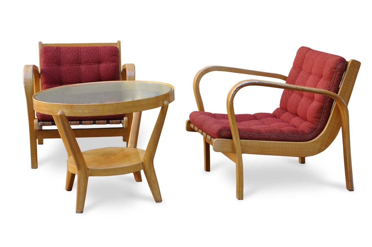 Poltrone deco vintage e tavolino vintage design italian for Poltrone e sofa contatti